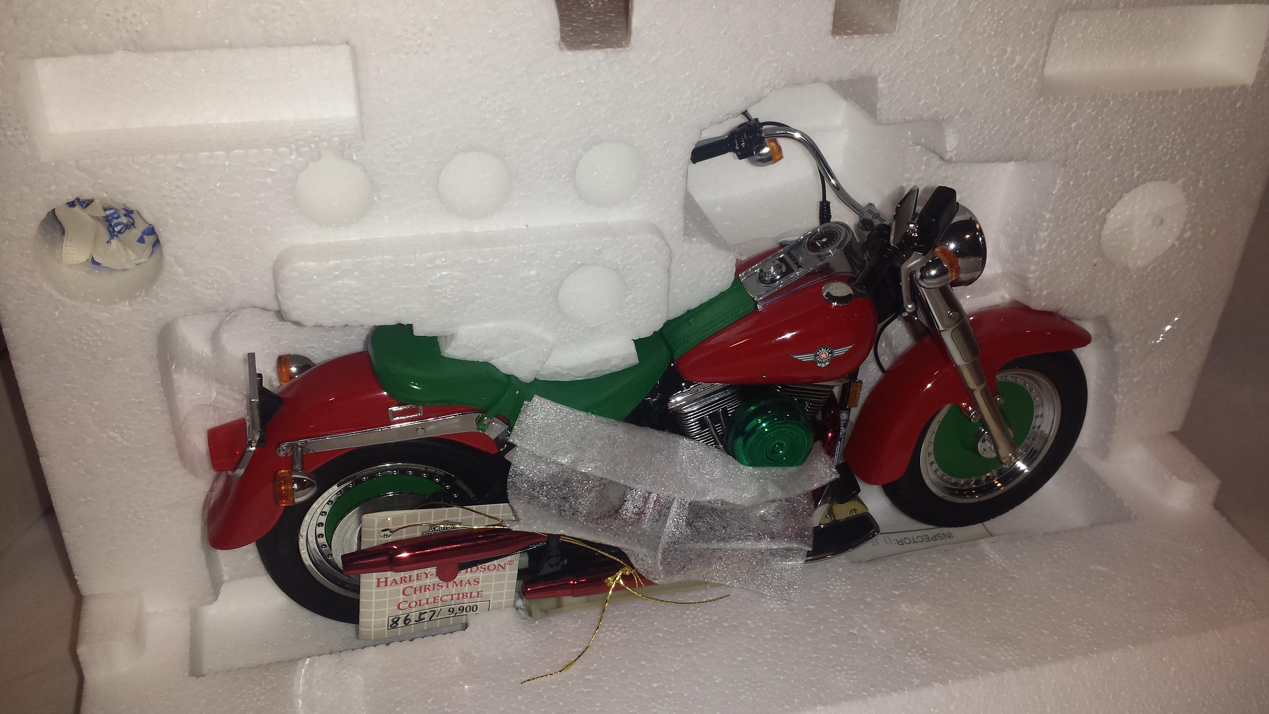 New Franklin Mint 2000 Harley Davidson Fat Boy Christmas Limited ...