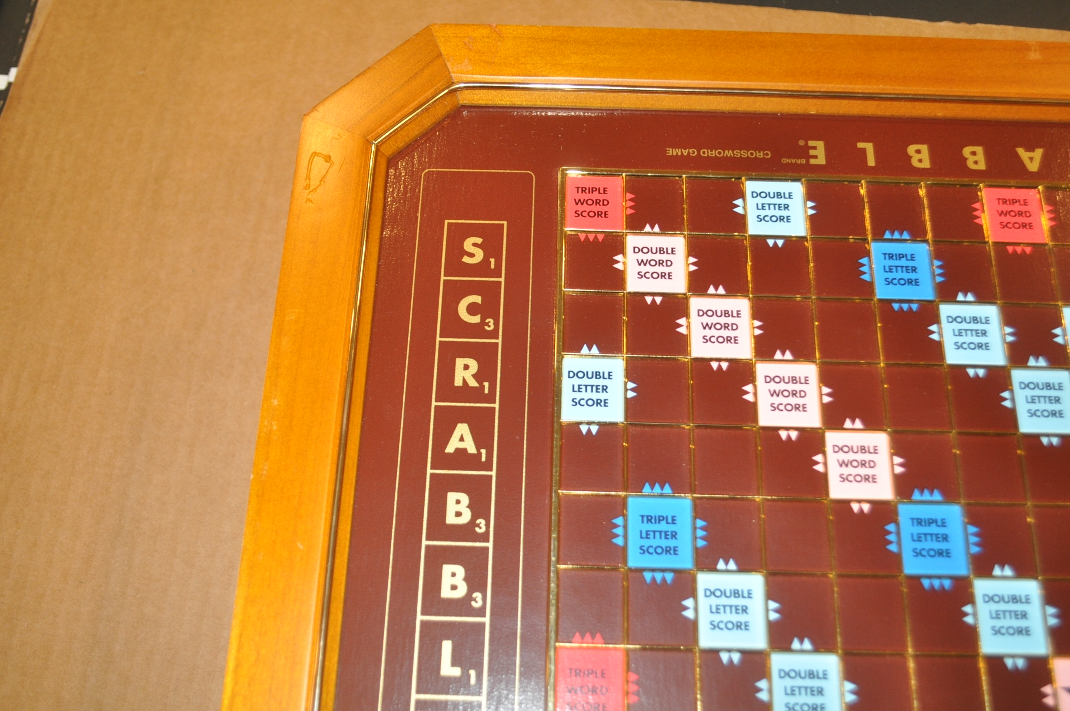 C Franklin Mint 1990 Gold Plated Scrabble Tile Free US Shipping